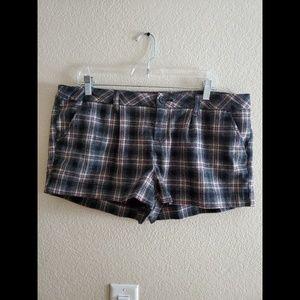 American Rag Wool Plaid Boho Shorts